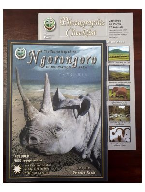 Map of the Ngorongoro Conservation Area (plus checklist)